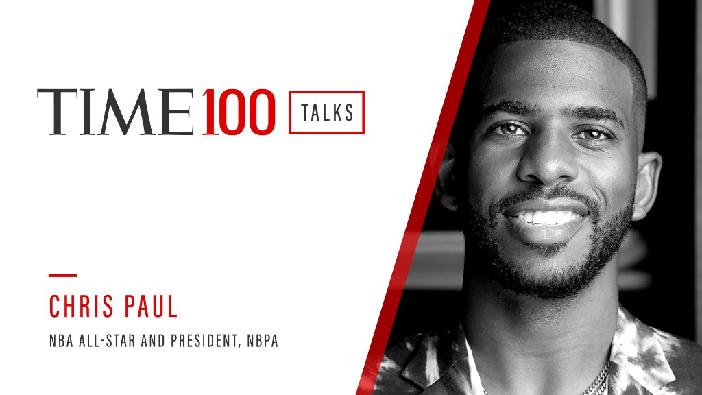 Join us tomorrow at 1 p.m. E.T. for a live #TIME100Talks featuring NBA All-Star and NBPA President Chris Paul (@CP3).  Register now: