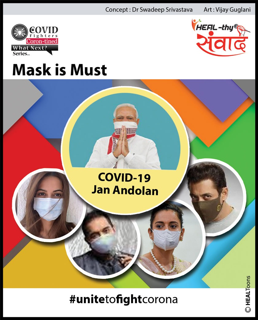 PM's Jan Andolan is calling everyone to join hands to defeat CORONA. Celebs are already there. Unite to fight COVID.  Join us:    #covidfighters #healthysamvaad #healhealth #unitetofightcorona