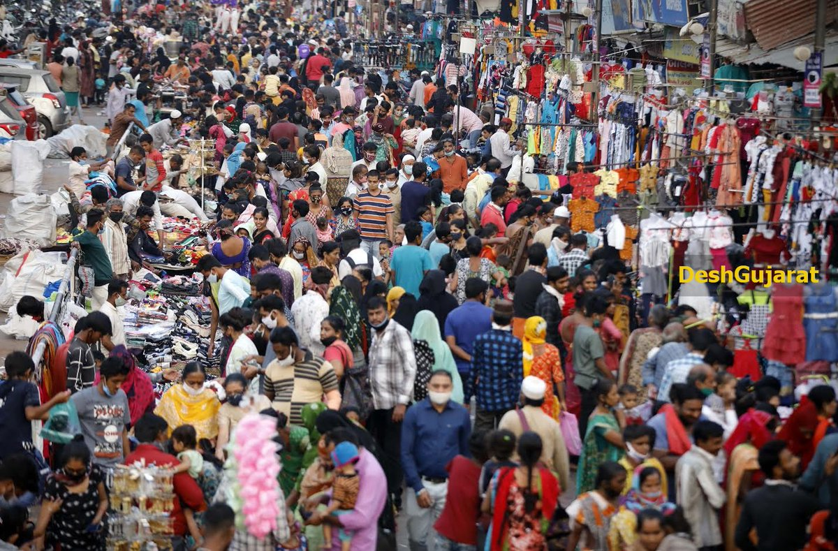 In pictures: Shoppers throng market ahead of Diwali festival in Wall City Ahmedabad