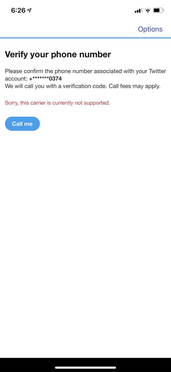 """Hi, I got locked out of my account (@28habitgolden) and my account is now restricted for no reason. I waited a day but I can't log back in, when I want to put in my phone number to verify it, it says """"Sorry, this carrier is currently not supported."""" Does anyone know what to do?"""