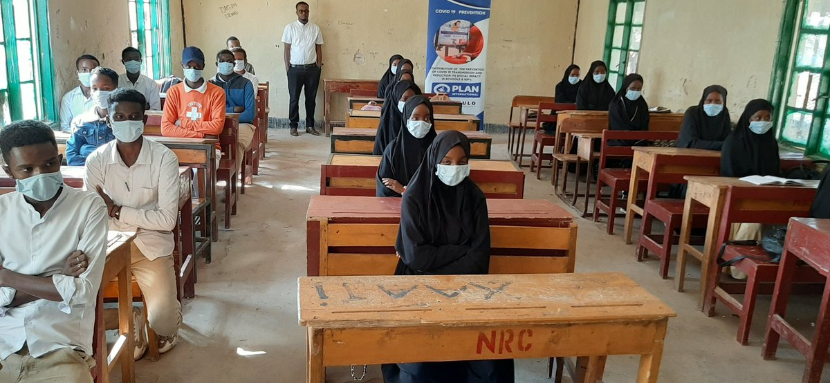 As a preventive measures against #covid19, @TaakuloSomali has provided disinfection tunnels, face masks, handwashing facilities, and other hygiene materials to three primary schools in Hargeisa. @PlanUK #planuk,@decappeal @DECScotland #decappeal the project is funded by @PlanUK