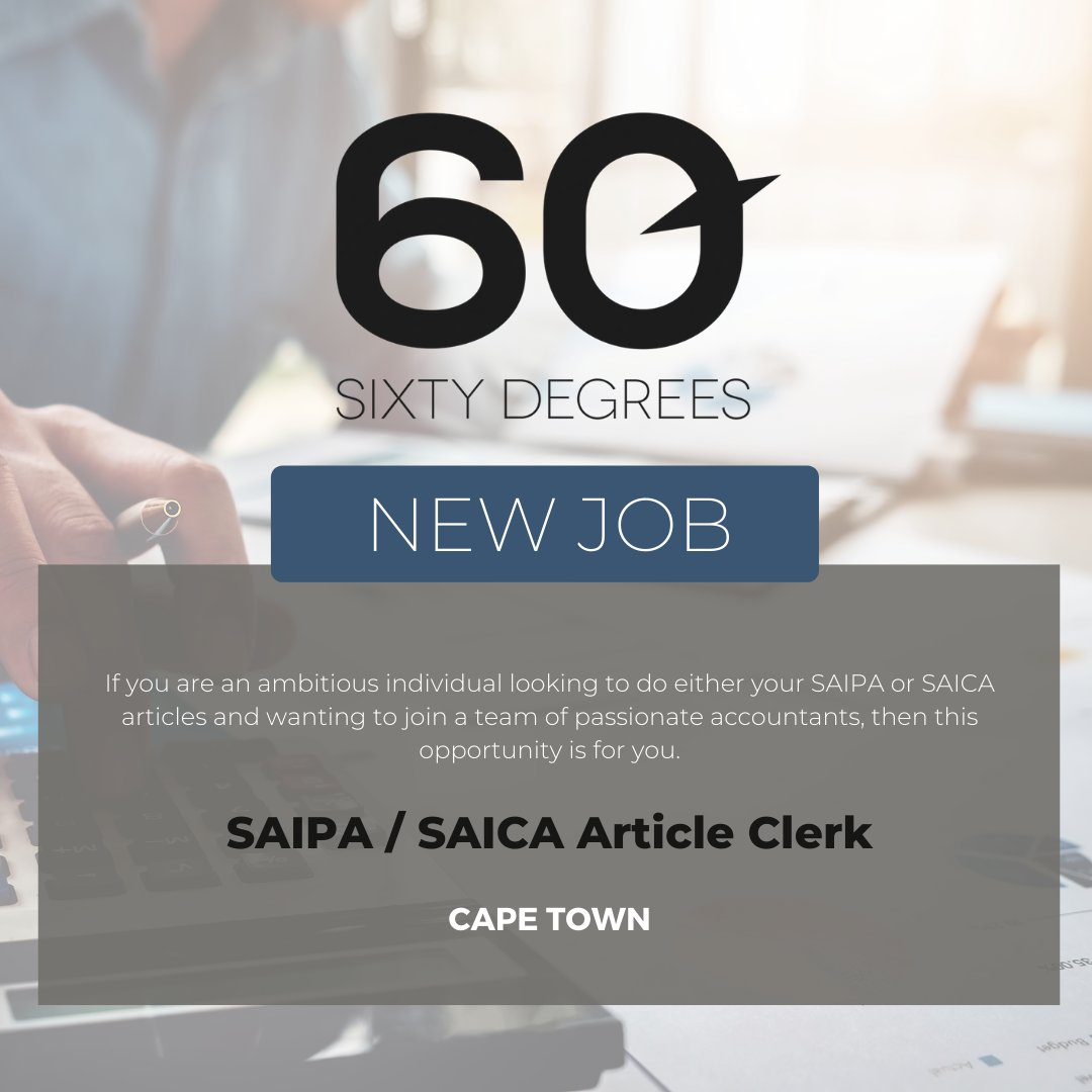 test Twitter Media - New #JobAlert - SAIPA / SAICA Article Clerk in Cape Town  For more information & to apply, please click on the link below  https://t.co/nZz8dJ5rT6  #60Degrees #60DRecruiter #60Droles #SAICA https://t.co/NyNfBVH8sA