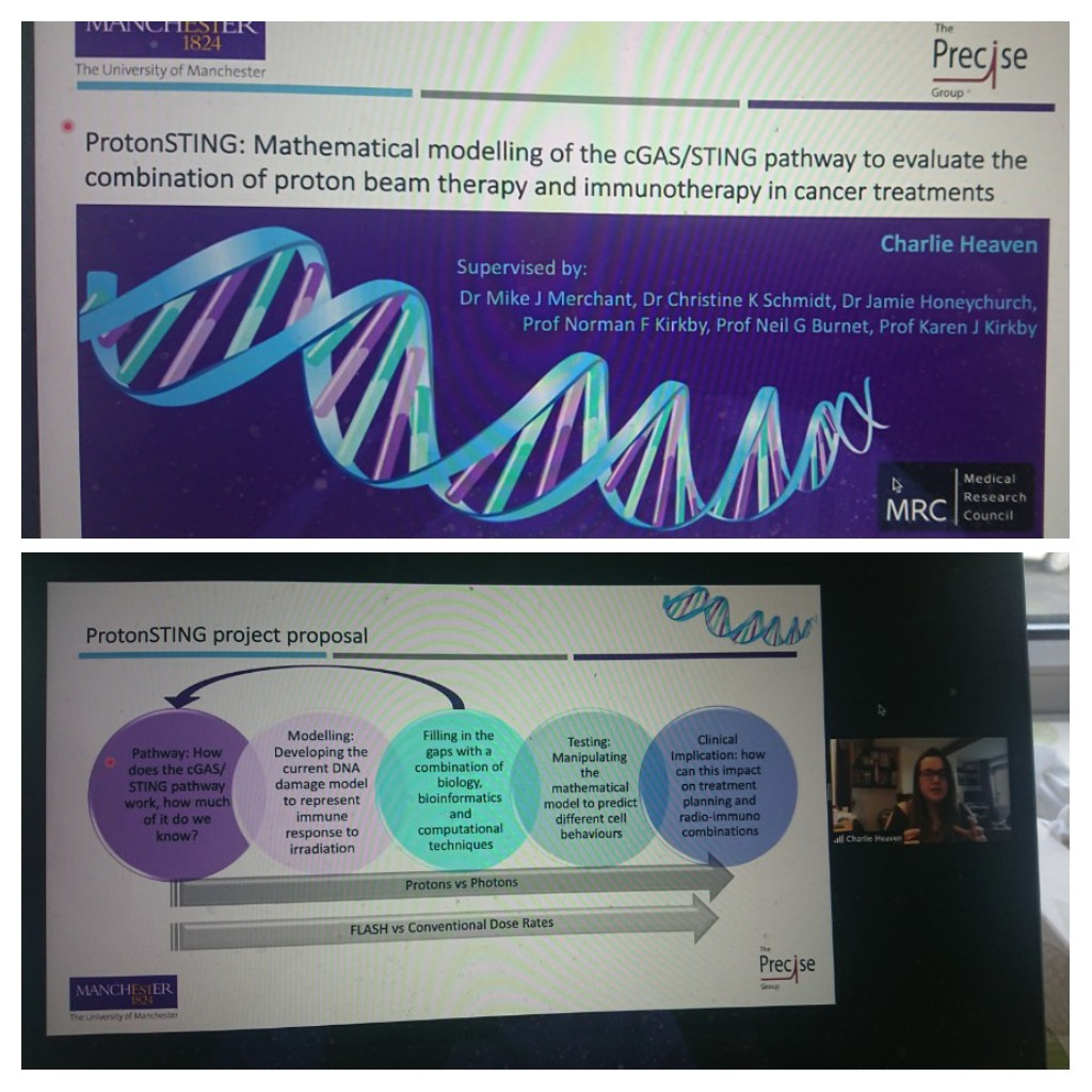 Excellent talk on Proton therapy and the STING pathway from Charlotte Heaven at Science Unlocked this morning! @Proton_Research #scienceunlocked https://t.co/e2axKpTZ01