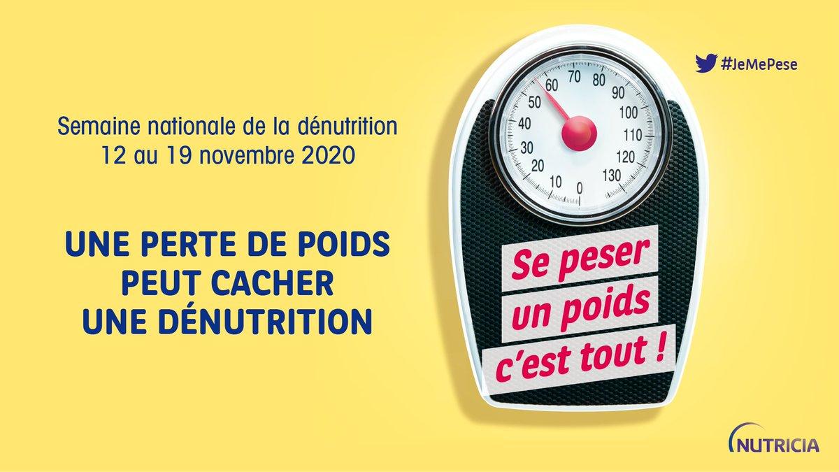 A l'occasion de la #semainedenutrition2020, NUTRICIA vous invite à vous peser régulièrement pour vous assurer du maintien d'un poids stable! #jemepese Pour plus d'informations, vous pouvez consulter notre brochure sur la dénutrition ici: https://t.co/H9zcTvxObP https://t.co/OK6mQd8nrE