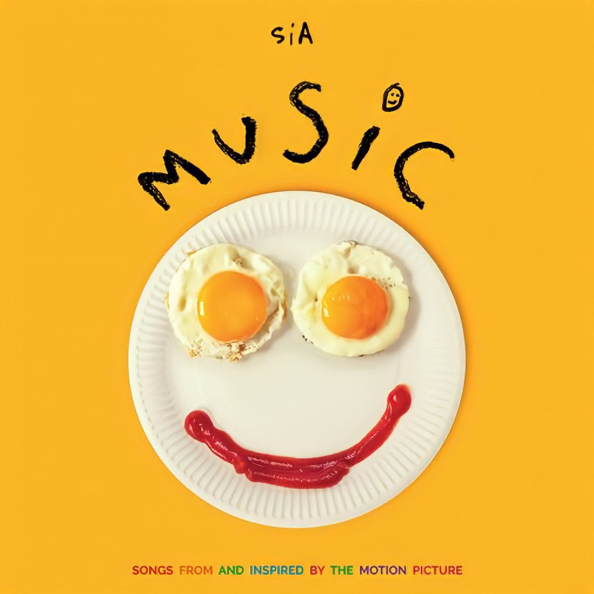 """OFFICIAL COVER ART of @Sia's upcoming album """"MUSIC — Songs From And Inspired By The Motion Picture"""" 💛  Sia's brand NEW SINGLE """"Hey Boy"""" is releasing THURSDAY, November 19th 🥓"""