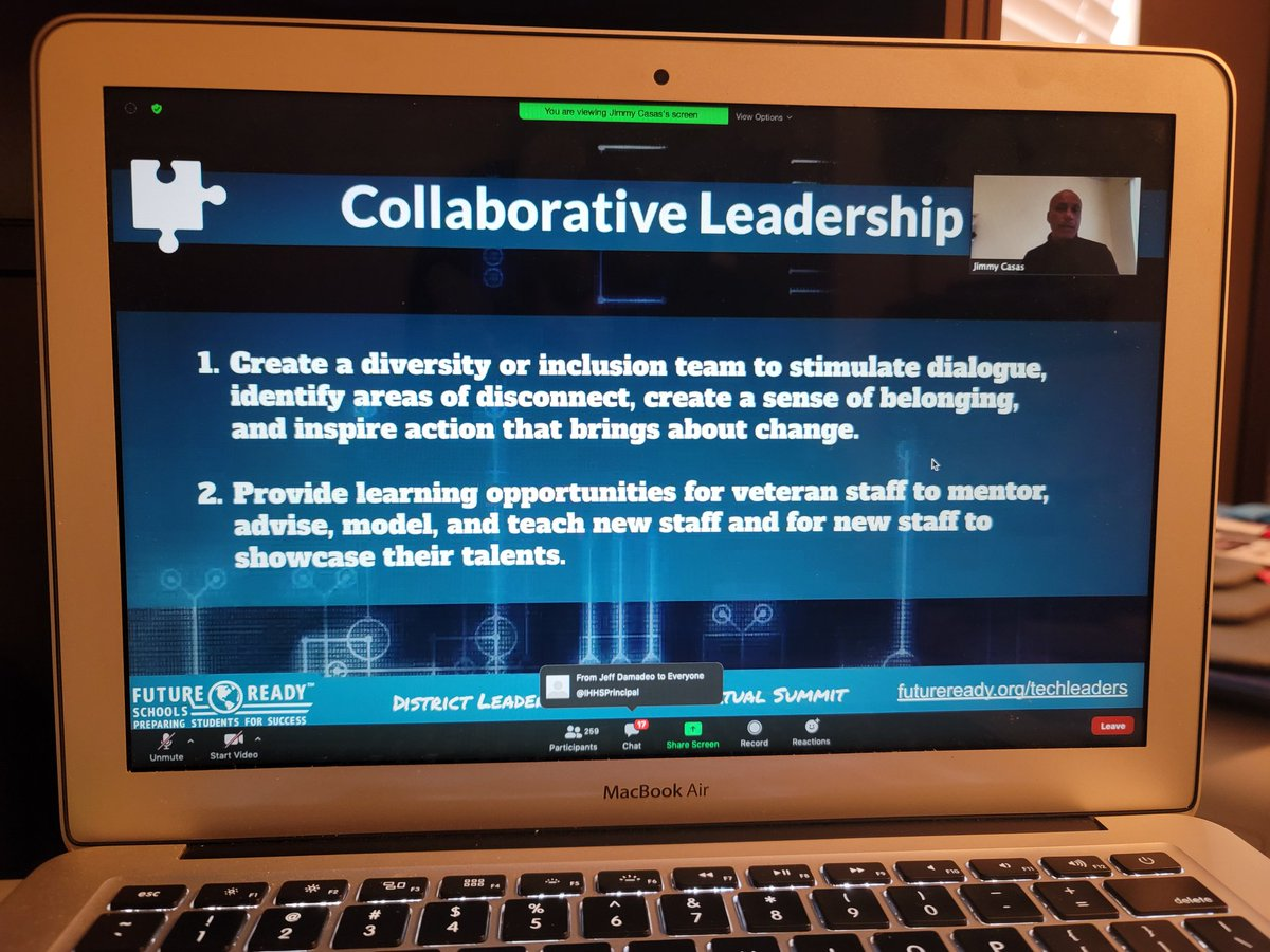 Everyone on your staff is a leader @casas_jimmy #FutureReady