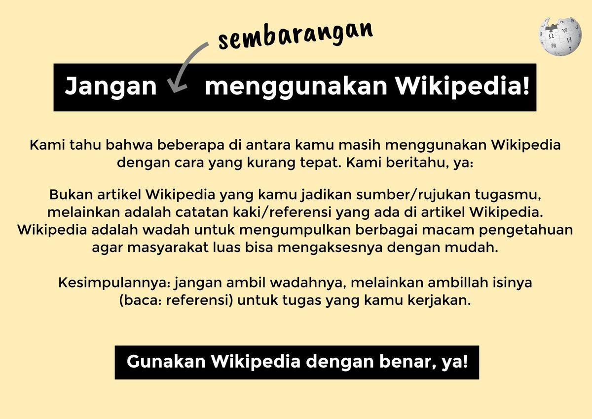 Wikipedia bahasa Indonesia idwiki   Twitter
