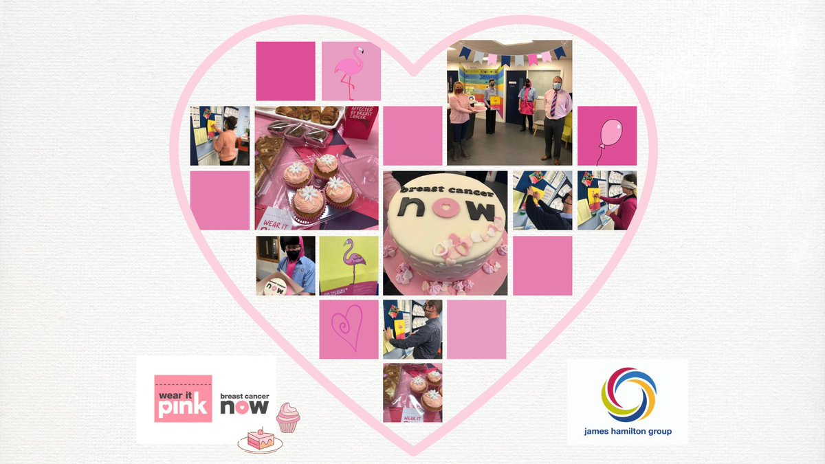 We 💗 @BreastCancerNow #wearitpink day!  Fundraising, yummy treats & David's annual transformation into a pretty pink flamingo! 😂 A special thank you to the very talented Angela Dawson for making the fantastic cake for our staff raffle! 😋🍰 #fundraising #charitysupport #jhgroup