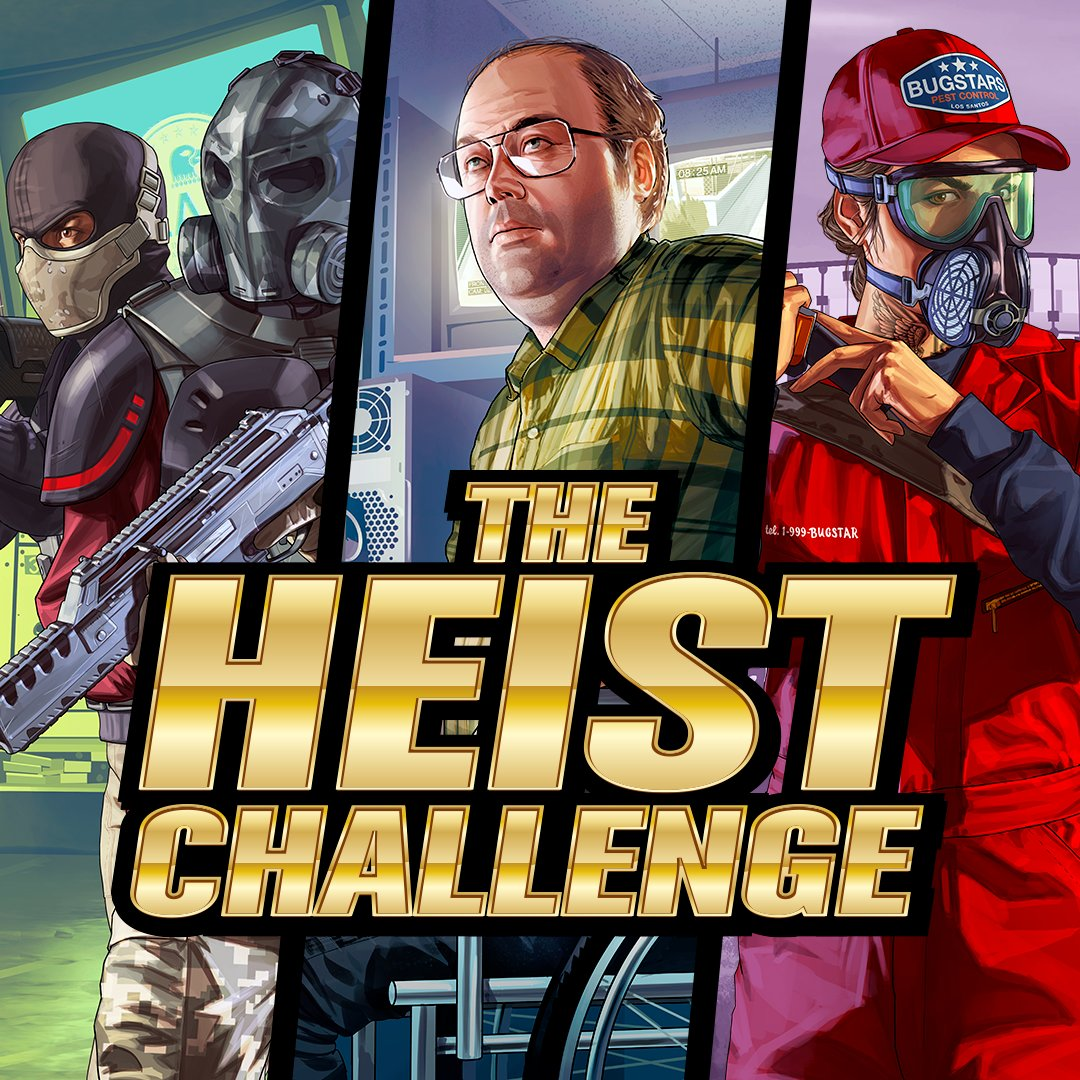 The Heist Challenge   If the community can collectively steal GTA$100 Billion across all GTA Online Heist Finales between now and November 18th, we'll reward everybody with a special new vehicle, free of charge for a limited time this December.   Details: