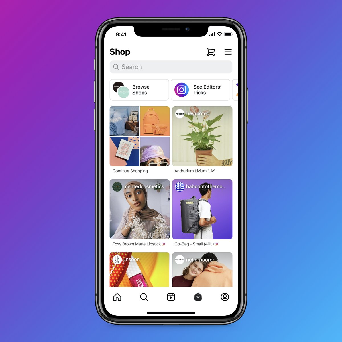 The Shop tab is a better way to connect with brands, find products you love and support small businesses 🛍   You can find personalized recommendations, editors' picks and more 🙌   We're excited about all these updates and think they give Instagram a much-needed refresh.  ❤️