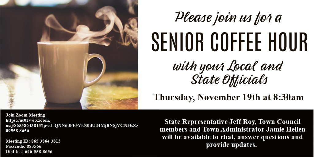Town of Franklin, MA: Senior Coffee Hours - Nov 19