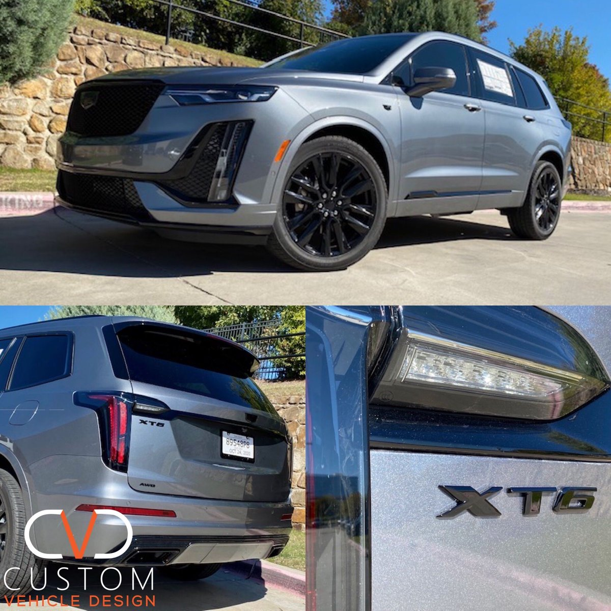 2021 Cadillac XT6 with factory wheels #2021 #2020 #Cadillac #XT6 #CadillacXT6 #Blackedout #Custom #CVDauto #CVD #CustomVehicleDesign