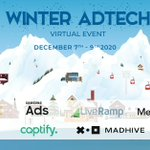 We are proud to partner with fellow #Adtech leaders to bring you our free Winter Adtech Virtual Event Dec. 7 - 9. Join us to discuss key industry topics and insights. Register now and we'll see you on the slopes! https://t.co/kHFpxNIQ2U #VirtualEvent #Advertising #DigitalMedia
