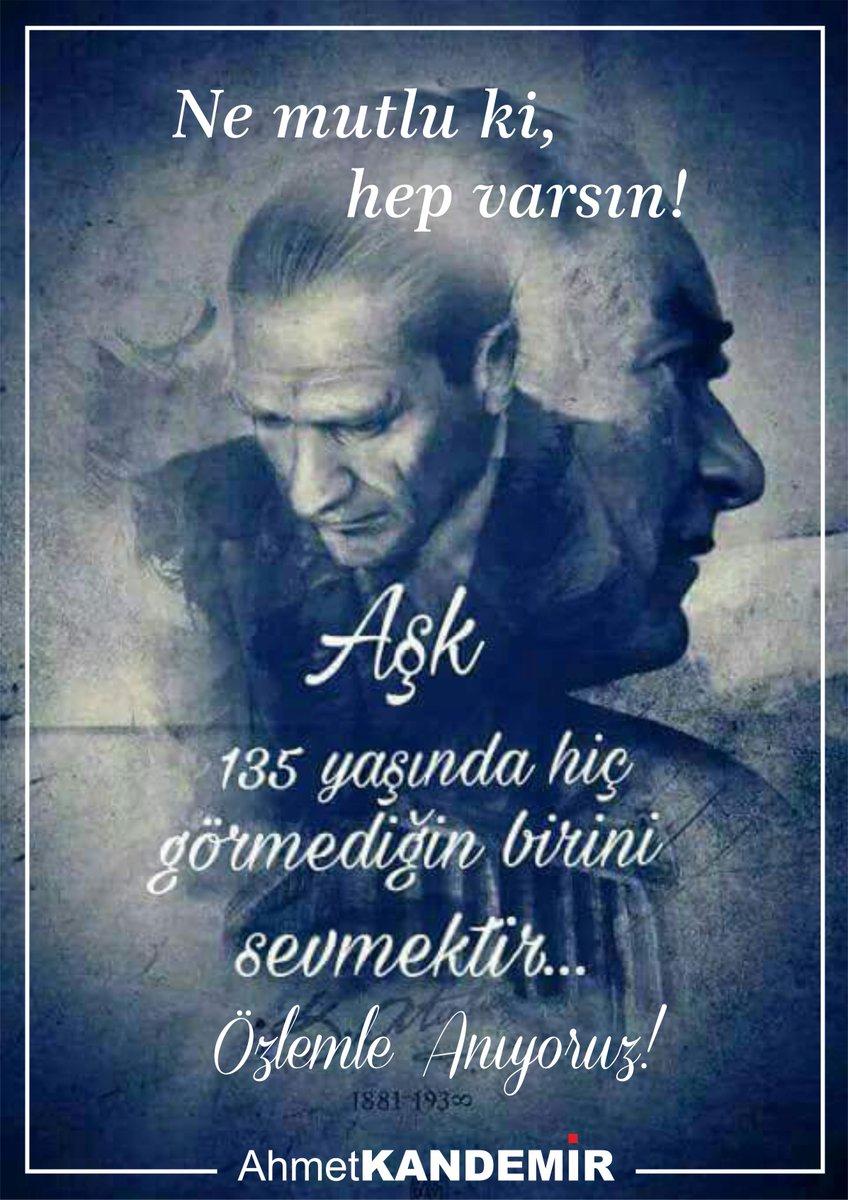 Hasret, Özlem ve Saygı ile anıyoruz. Sen hep bizimlesin.  #Atatürk #10Kasım1938 #Yasiyor #Cumhuriyet