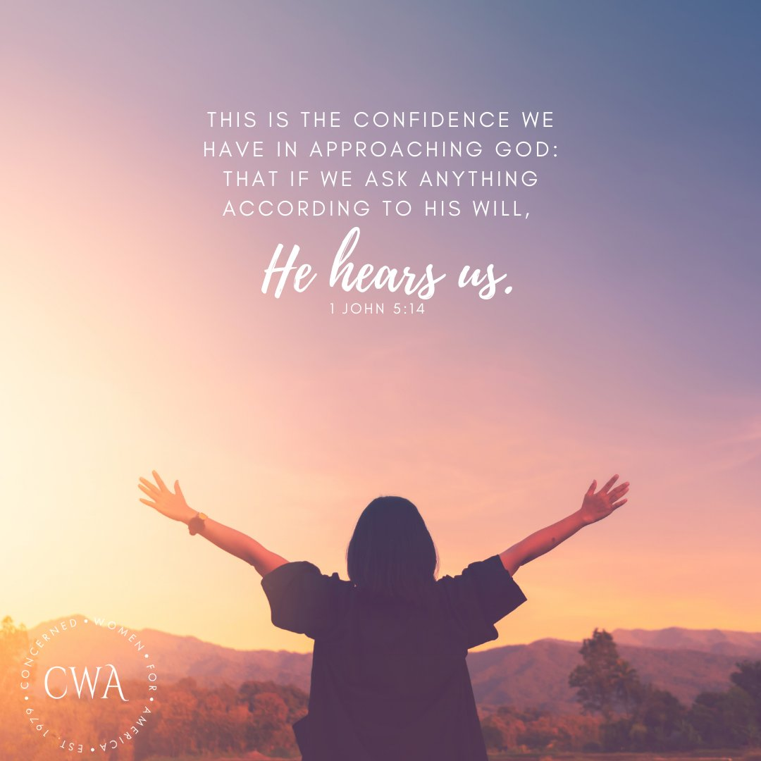 As Christians, our hope and peace is found knowing that God hears us when we pray.