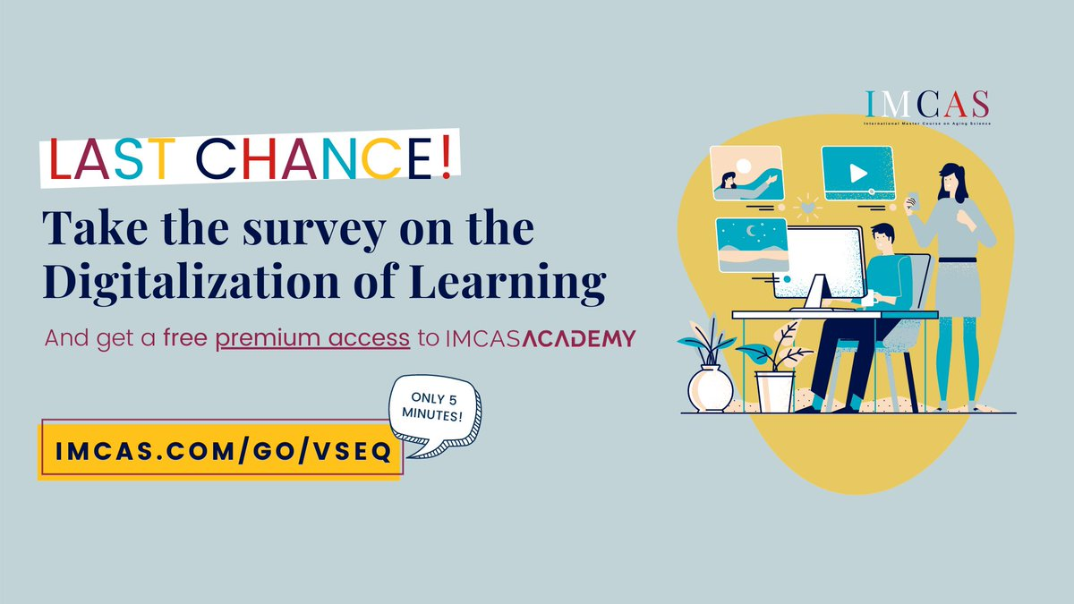 Help us complete our study on new trends in medical learning and digital events 👉 https://t.co/YGPs0Emx6H  November 15 is the LAST CHANCE to take the survey & receive a complimentary 1-month premium access to IMCAS Academy! https://t.co/gXOX1liace