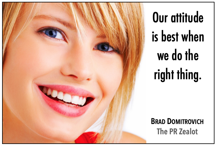 Keeping the right attitude nowadays is important. The right attitude keeps us focused. #PR #SchoolPR