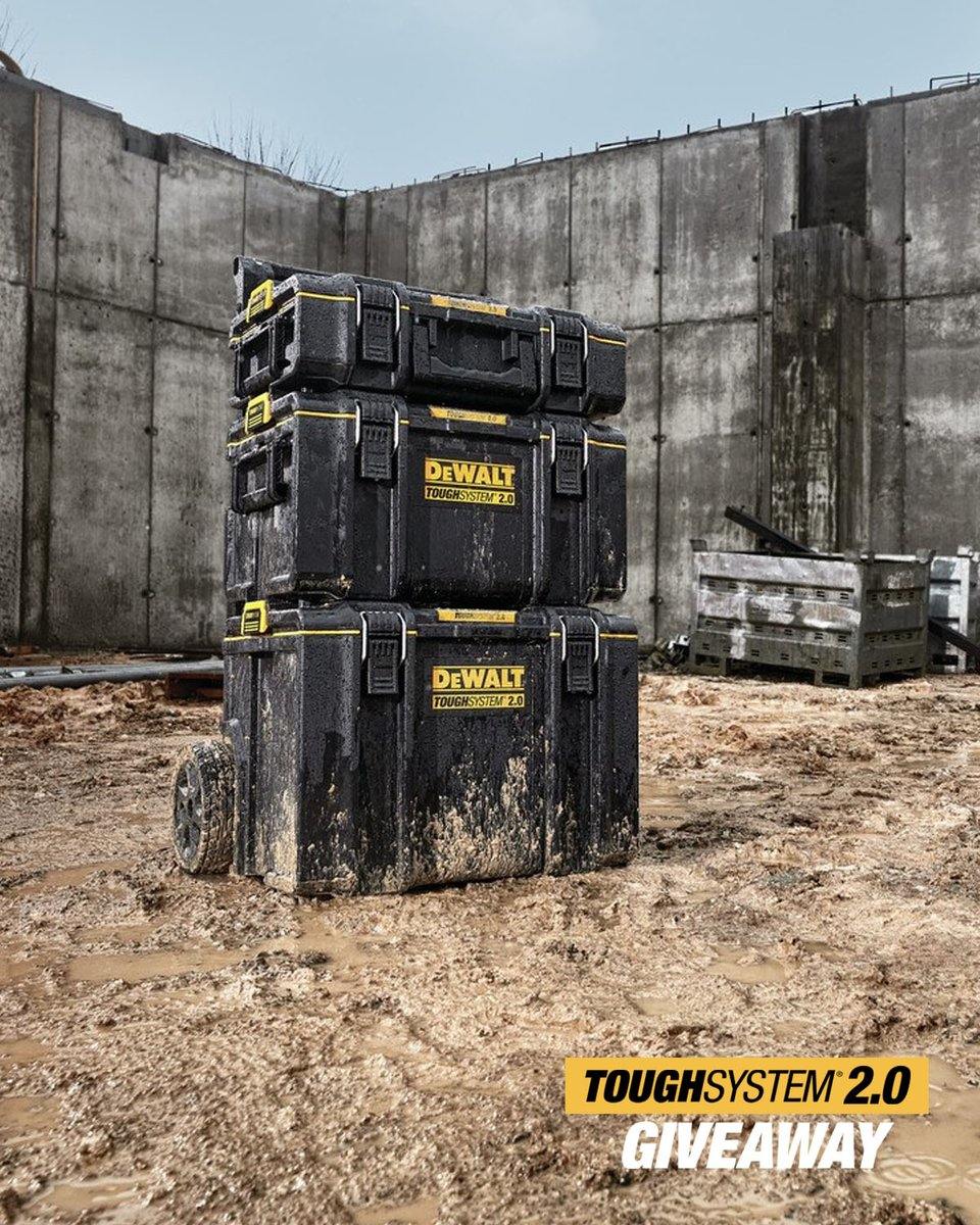 Storage built to last. Comment with #DEWALTToughSystem2 for a chance to win a ToughSystem® 2.0 Tower.