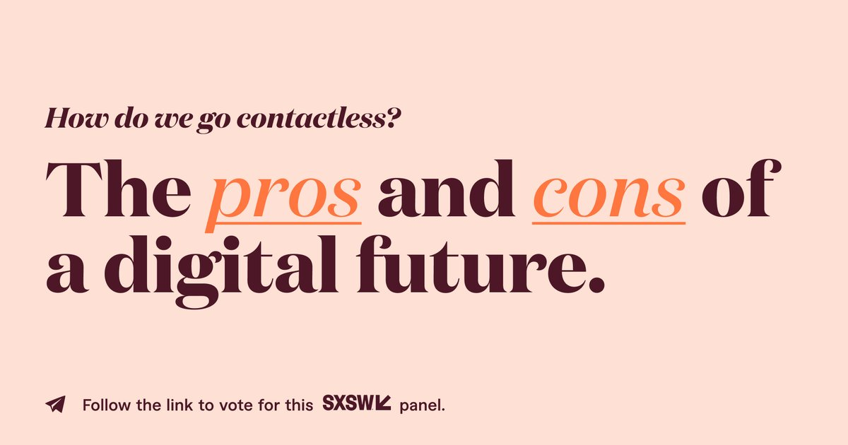 Are contactless technologies a new normal that will survive in a post-coronavirus world? If so, what are some of the consequences we might face as a society? During this panel, we will discuss the pros and cons of a contactless world.  #SXSW2021 https://t.co/1GjfvJbsez https://t.co/5xADst08bq