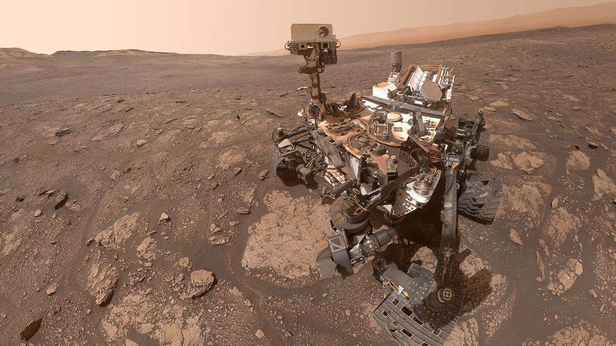 "Look cute – and I won't delete later.   Greetings from the Red Planet! I took another selfie as I explored a new spot dubbed ""Mary Anning,"" where I'm analyzing drill samples. I conducted experiments on them in my continued search for organic molecules."