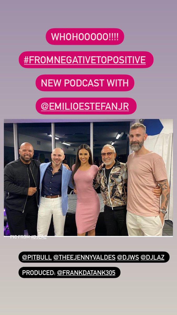 @pitbull #Fromnegativetopositive podcast with @EmilioEstefanJr 🔥