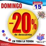 Image for the Tweet beginning: #Domingo 15 de #Nov -20%