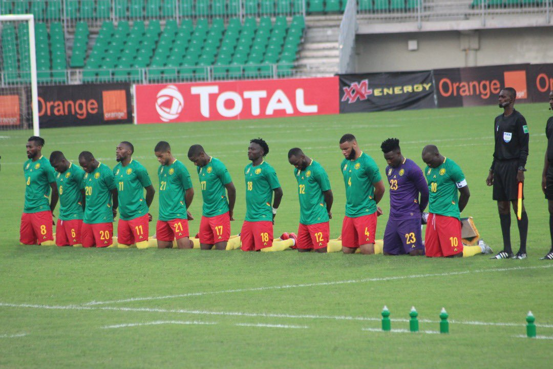 Replying to @roger_milla_9: Good win and beautiful gesture my boys. 🇨🇲  #EndAnglophoneCrisis ✊🏿