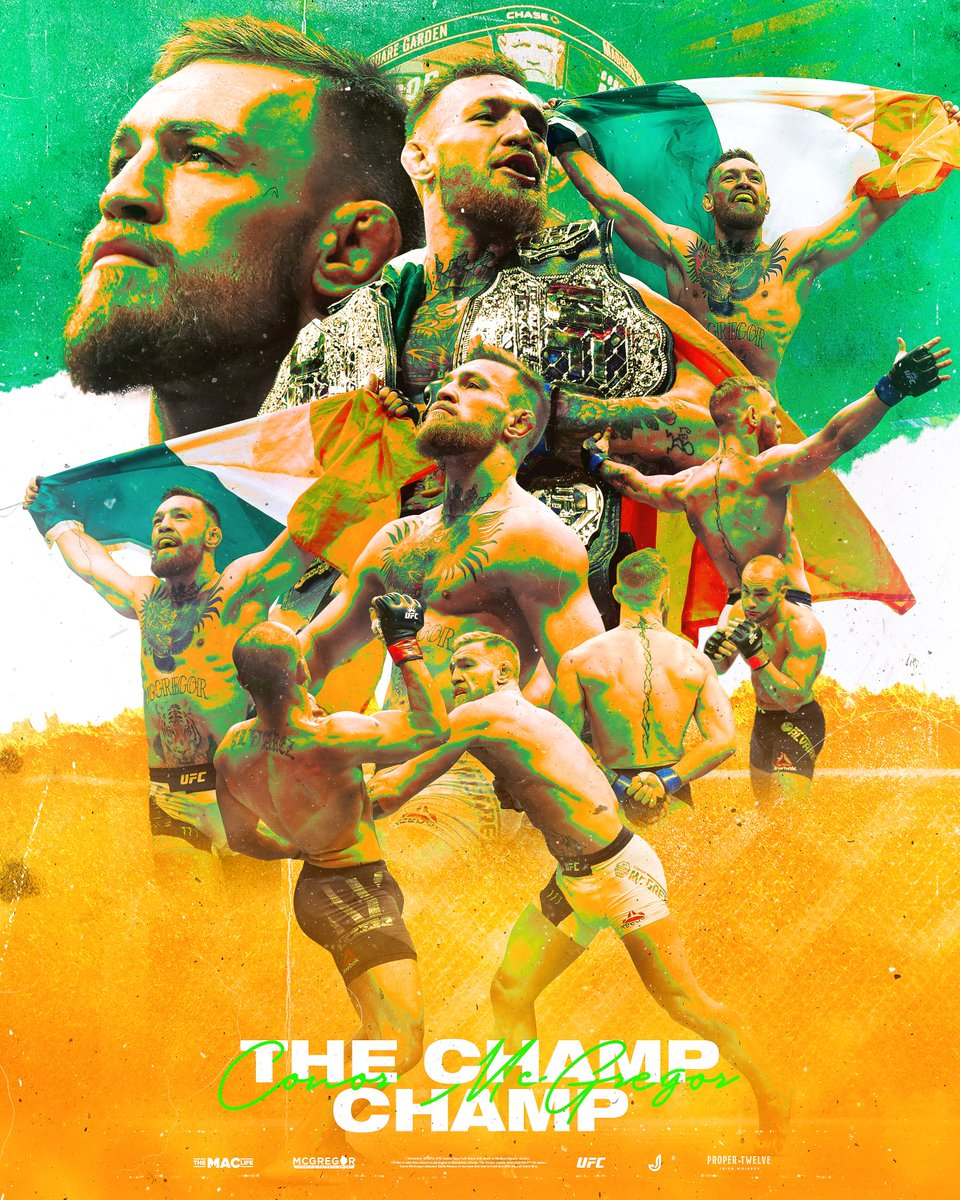 4 Years Ago Today, @TheNotoriousMMA earned #ChampChamp status 🏆🇮🇪 https://t.co/DqdZgwYtly