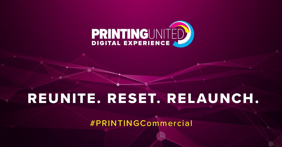 """YES!🎉👏 The resiliency of our industry is not to be underestimated, and although we couldn't be together """"live"""" this year, our hope is that this experience and celebration will together light a fuse to reunite, reset, and relaunch! #PRINTINGUnited"""