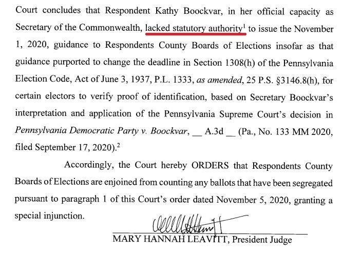 Re: [爆卦] 賓州法院命令11/4後收到的選票不列入計算