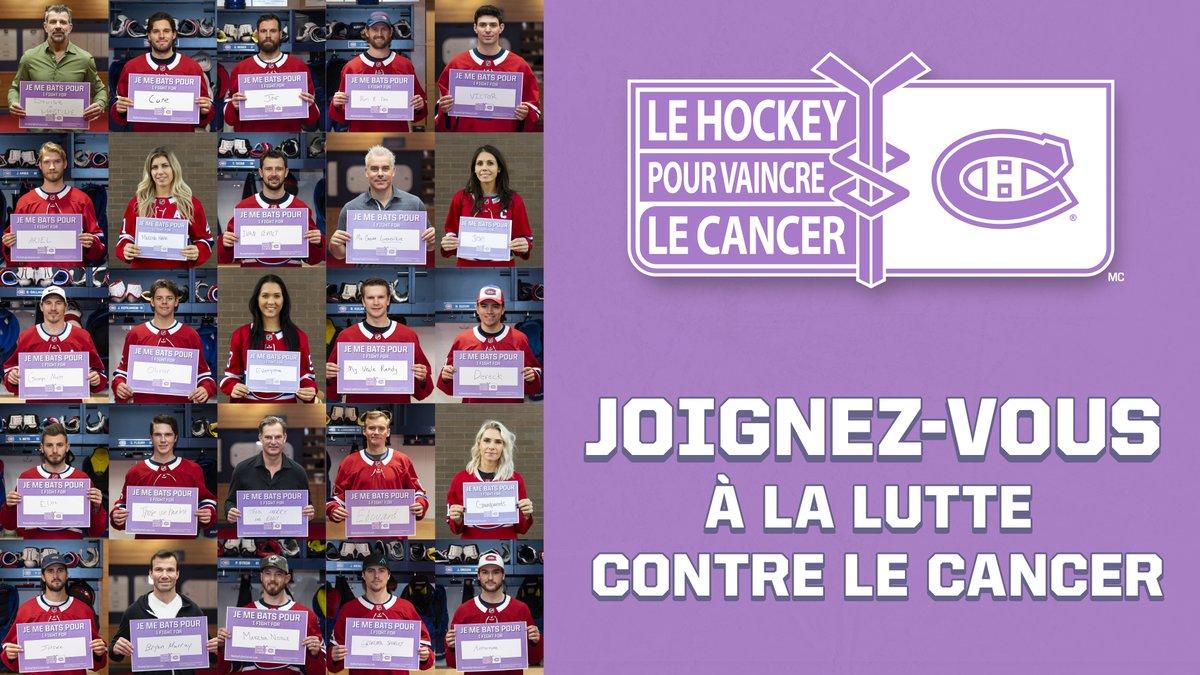 Chc Fondation On Twitter Les Joueurs Des Canadiensmtl Et Leurs Conjointes Ainsi Que Les Membres De L Organisation Soutiennent La Lutte Contre Le Cancer En Affichant Le Nom D Un Etre Cher Qui