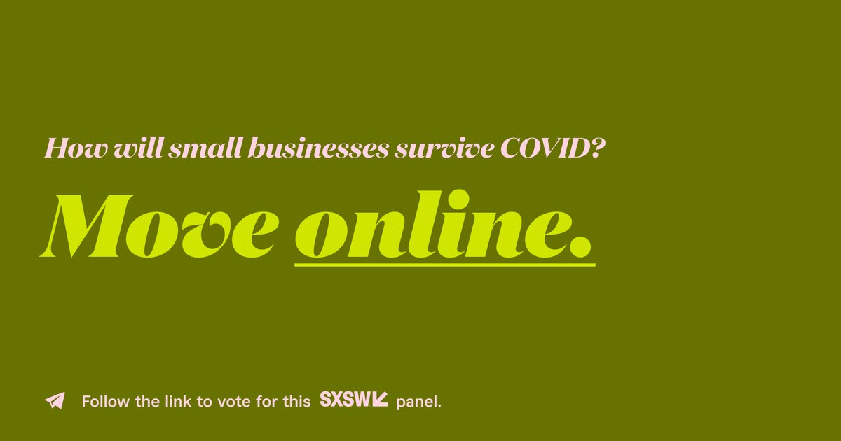 During COVID-19, offline companies have been faced with a choice: migrate and optimize their existing operations online or risk losing their businesses. Vote for this #SXSW2021 panel to hear from small business owners who pivoted their businesses online.  https://t.co/FgDWsBi9IB https://t.co/FQfe5bZX22