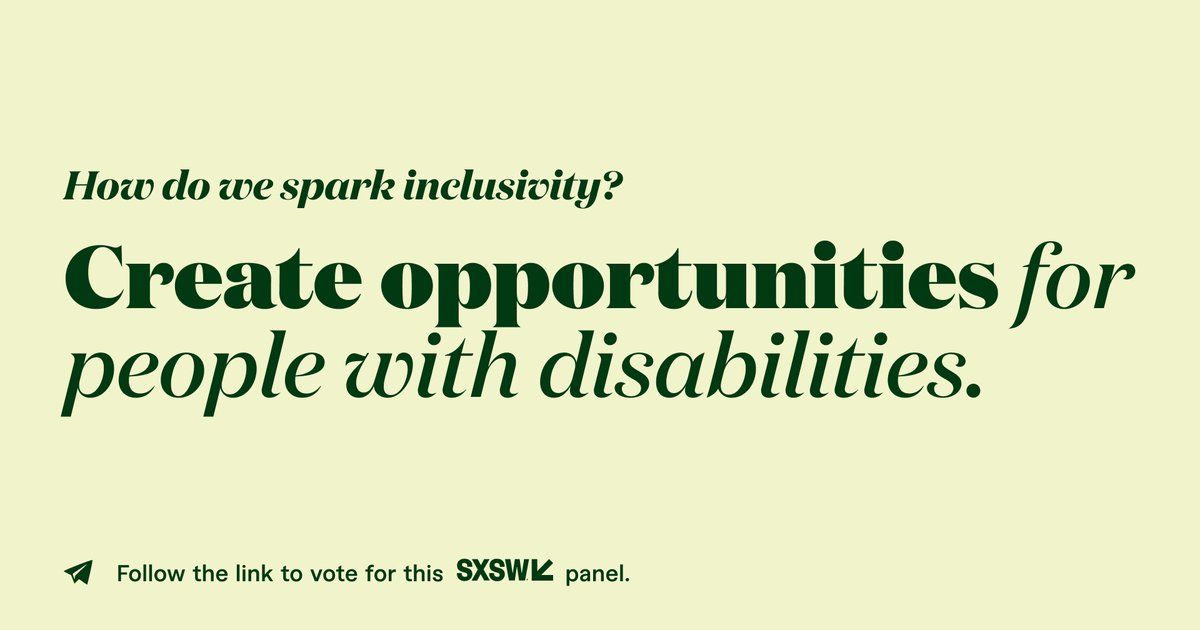 Did you know people of diverse abilities remain a largely untapped and unseen talent pool of around 10.7 million people? This #SXSW2021 panel will discuss the ways disabled folks have been left behind and what tech/tech companies can do to spark change. https://t.co/MFcJsUyw2T https://t.co/QmuUVYvVdy