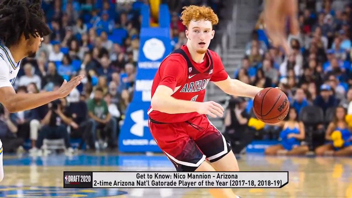 """""""He never shied away from those moments one time.""""   Arizona head coach Sean Miller praises Nico Mannion's confidence and demeanor."""