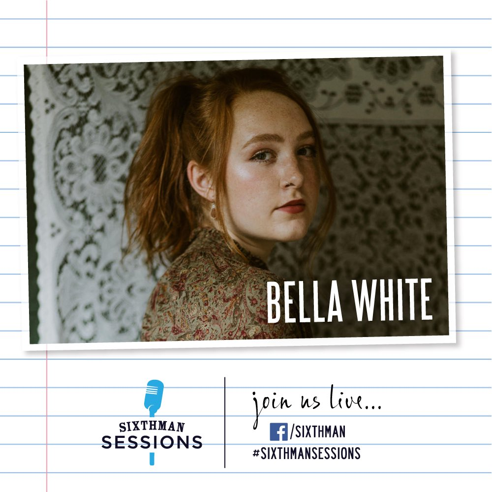 It's gonnna be a good day over at #SixthmanSessions. Tune in and bring a friend! ❤️🎶 #SXMsessions 4PM ET • @bellawhitemusic 5PM ET • @YAMHAUSBand 6PM ET • @mlvsolicitor of @deltaspirit Tune In: facebook.com/sixthman/live RSVP: sixthmansessions.com/calendar