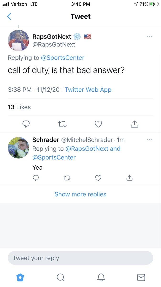 "@RapsGotNext @SportsCenter ""My only answer"""
