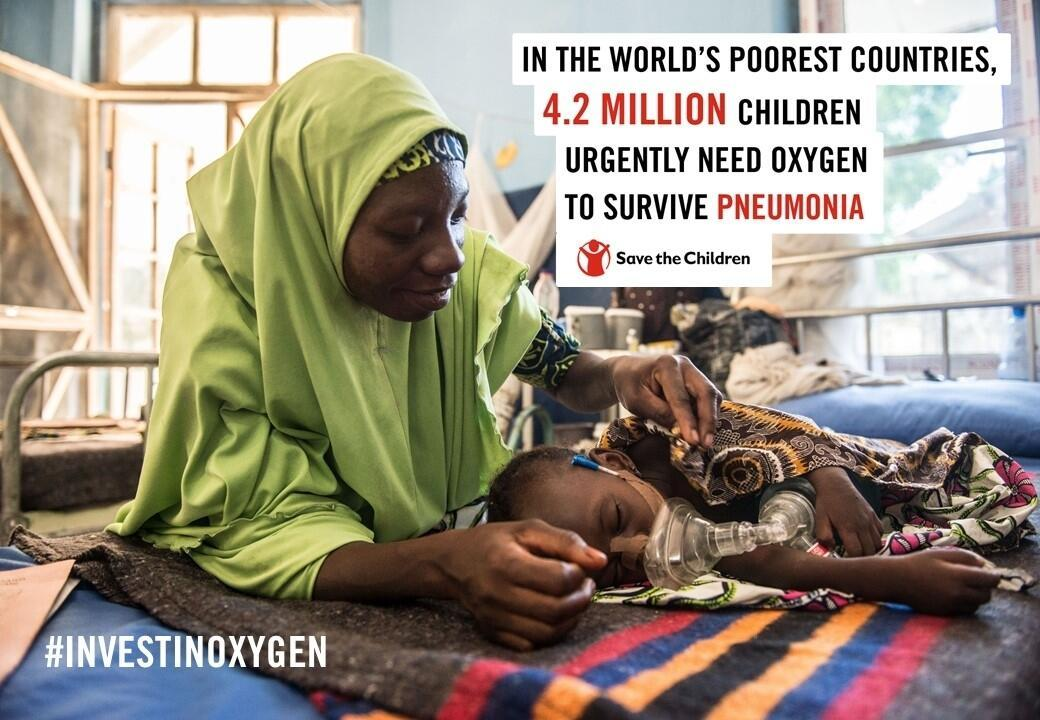 Every year, 4.2 million children with severe pneumonia in lower-income countries urgently need oxygen to survive. For them, closing the oxygen gap is a matter of life or death.  #WorldPneumoniaDay @Save_Children