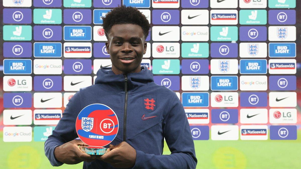 Your @bt_uk Player of the Match...  Congratulations, @BukayoSaka87! 👏