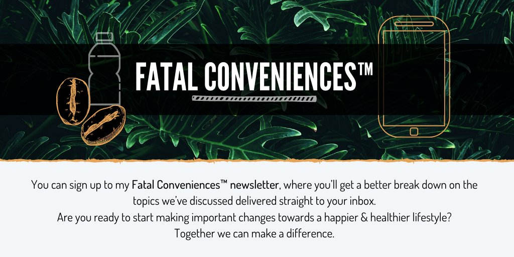 I'm having a CRAZY week guys, so this week's Fatal Conveniences™ segment will be out tomorrow.   If you still want your Thursday fix, you can head to  to sign up for my newsletter and get in-depth information & healthy living tips straight to your inbox ✉️