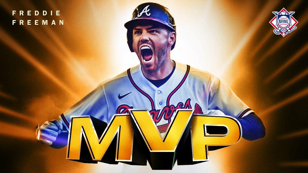 Replying to @MLB: #MVFree indeed.  @FreddieFreeman5 is your 2020 NL MVP. 👏
