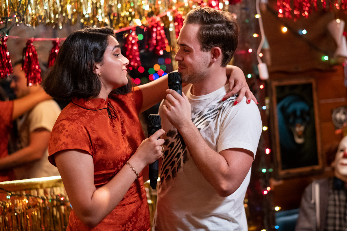 All the chemistry, and all the fun!  @YoYoGeraldineV and @FergyEvers, was this scene a ton of fun to film?  #BrokenHeartsWatchParty