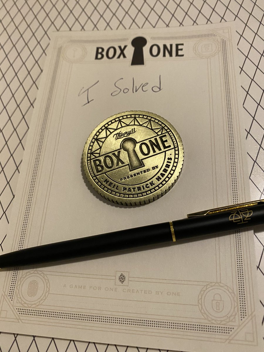 I solved @ActuallyNPH's Box One!  Pretty interesting concepts at play here. Worth checking out!