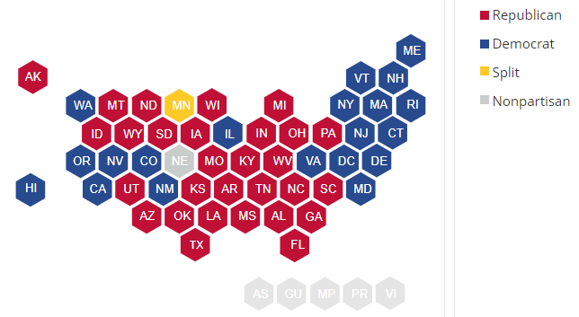 9/Of states that Biden won, five – Pennsylvania, Michigan, Wisconsin, Georgia, and Arizona – have GOP-controlled state legislatures. Of those, GA and AZ have Republican governors as well.So it's not just PA we have to worry about here. https://www.ncsl.org/research/about-state-legislatures/partisan-composition.aspx#