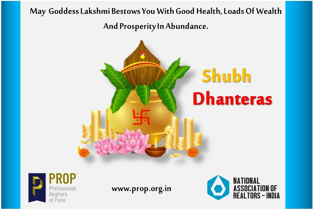 Happy Dhanteras ! . . . . . .  #Happy #Dhanteras! #FestivalGreetings #PROPWA #Professionalrealtorsofpunewelfareassociation #PROPAssociation #FastestGrowingRealtorsAssociationInIndia #BestAssociationInIndia #festivalgreetings #HappyNavratri #NationalAssociationOfRealtors https://t.co/QVM4MP784u