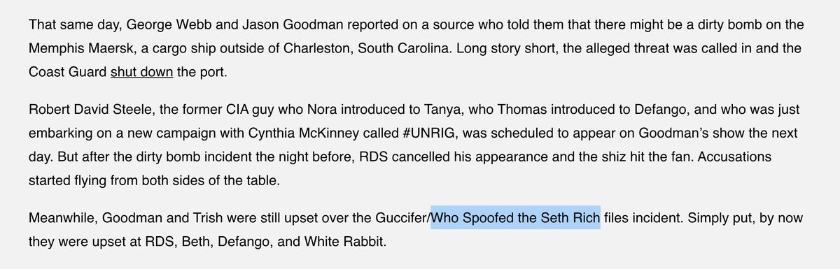 They're also involved in calling in a fake radioactive bomb threat at the Charleston port in 2017. Hard to tell if that was a publicity stunt, or if they were testing our threat response for a foreign adversary. 7/