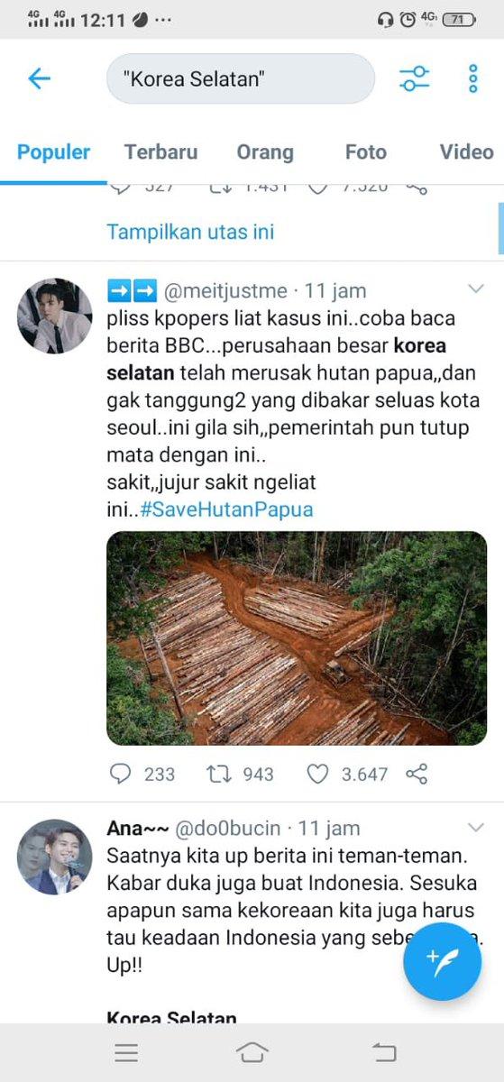 "#TellTheWorldILoveYou Gaiss minta perhatiannya, tolong tweet /retweet ini yaa🥺. Pake hastag #SavePapuaForest #savepapua biar naikk lagi trend nya.. ini buat info aja kalo sekerng indonesia sedang tidak baik"" saja.. tolongggg siapapunnn.."