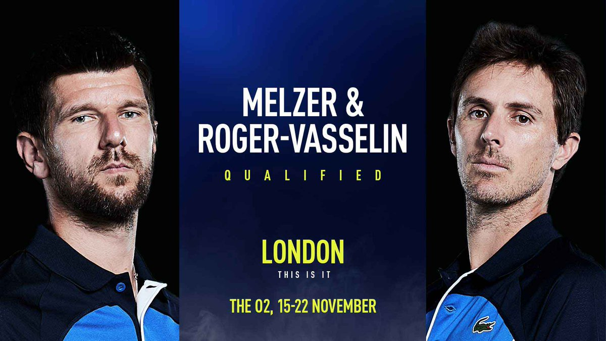 Off to London 🇬🇧  @jojomelzer & @ERogerVasselin have qualified for the #NittoATPFinals after making the final at the #SofiaOpen 👏 https://t.co/KAu41kTcbS