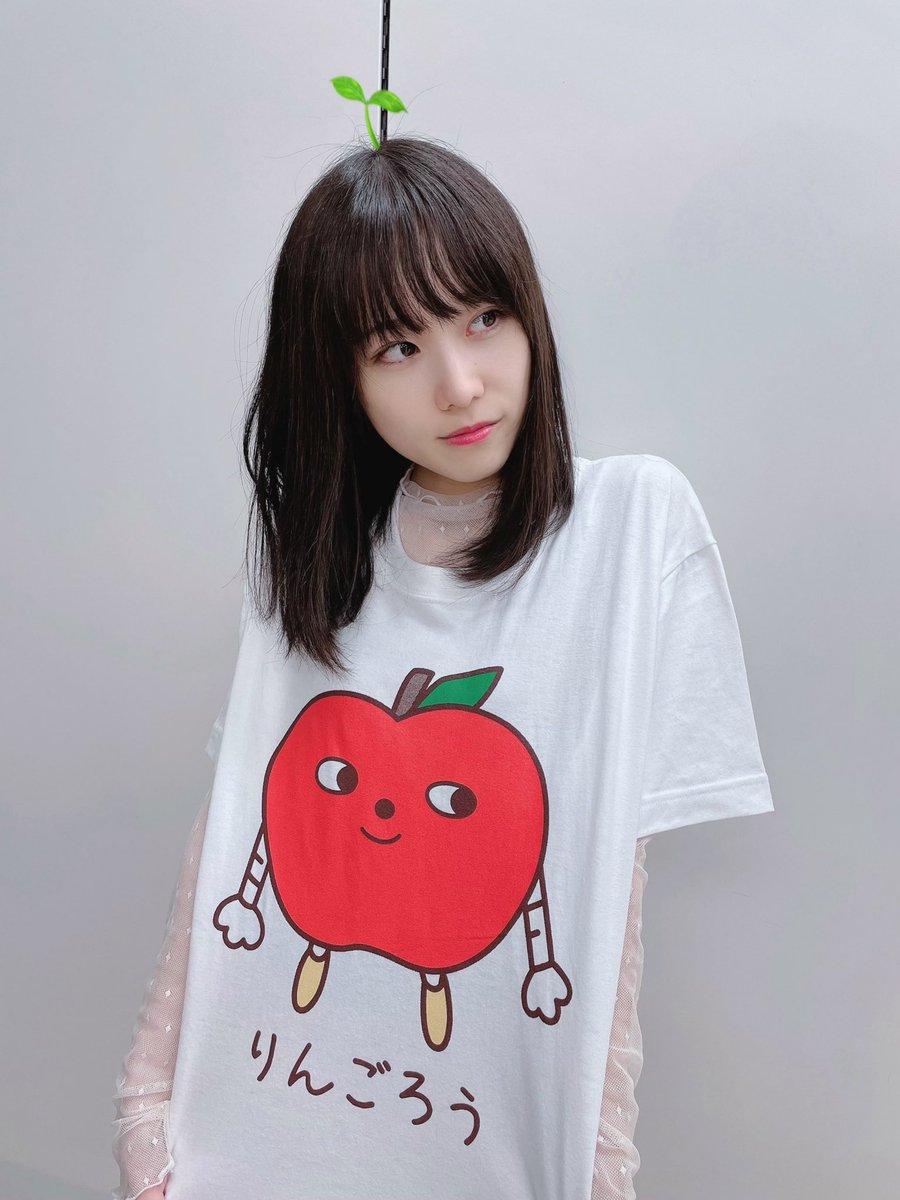 りんごの精のりんごろうさんTシャツですっ かわいい〜 これを着てダンスレッスン頑張ります