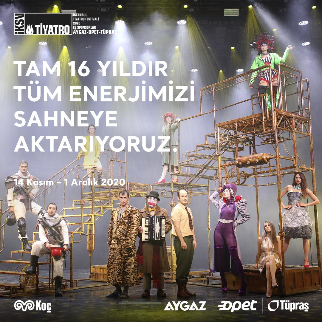 24. İstanbul Tiyatro Festivali'nin çevrim içi gösterimleriyle her yer tiyatro sahnesine dönüşüyor. Enerjimiz tiyatroya. #tiyatroneredeysebizoradayız #istanbultiyatrofestivali #enerjimiztiyatroya