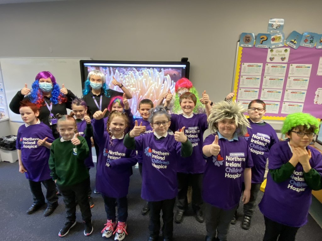 It's all happening today with our Wacky Hair Day in support of the @nichildrenshosp